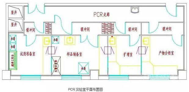 PCR实验室平面设计